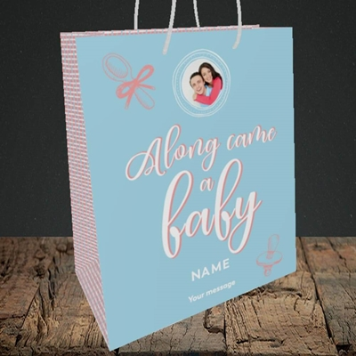 Picture of Along Came A Boy, New Baby Design, Medium Portrait Gift Bag