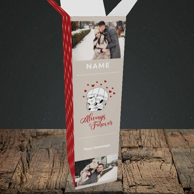 Picture of Always & Forever, Valentine's Design, Upright Bottle Box