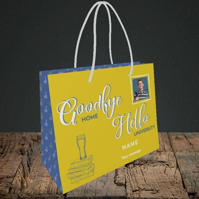 Picture of Hello University, Leaving Design, Small Landscape Gift Bag