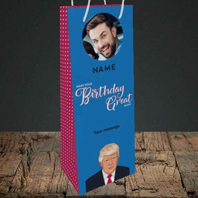 Picture of A Trump Birthday, Birthday Design, Bottle Bag