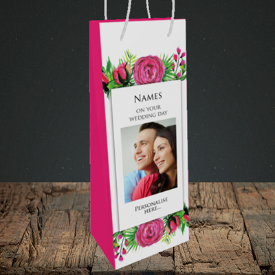 Picture of Flowers, Wedding Design, Bottle Bag