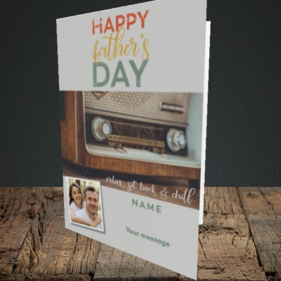 Picture of Retro Radio, Father's Day Design, Portrait Greetings Card