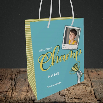 Picture of Champ, Celebration Design, Small Portrait Gift Bag