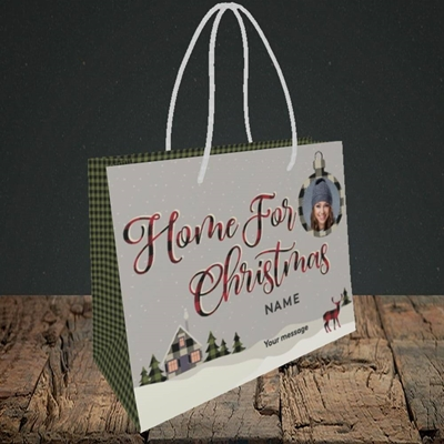 Picture of Home For Christmas, Christmas Design, Small Landscape Gift Bag