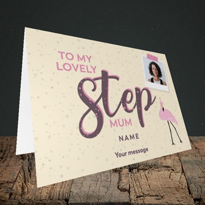 Picture of Lovely Step Mum, Mother's Day Design, Landscape Greetings Card
