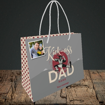 Picture of Kick-Ass Dad, Father's Day Design, Small Landscape Gift Bag