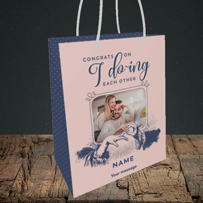 Picture of I Do-ing, Wedding Design, Small Portrait Gift Bag