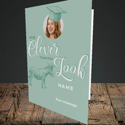 Picture of Clever, Graduation Design, Portrait Greetings Card