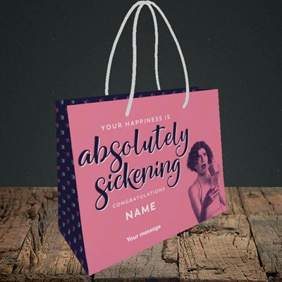 Picture of Absolutely Sickening(Without Photo), Wedding Design, Small Landscape Gift Bag