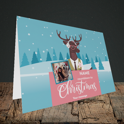 Picture of Countdown, Christmas Design, Landscape Greetings Card