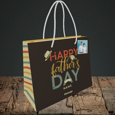 Picture of Retro, Father's Day Design, Small Landscape Gift Bag