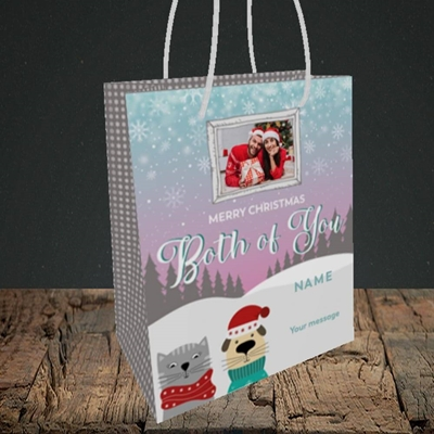 Picture of Both Of You, Christmas Design, Small Portrait Gift Bag