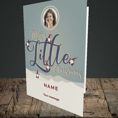 Picture of Merry Little Christmas, Christmas Design, Portrait Greetings Card