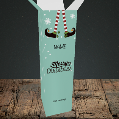 Picture of Elf, (Without Photo) Christmas Design, Upright Bottle Box