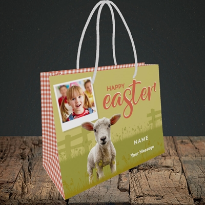 Picture of Lamb To See You, Easter Design, Small Landscape Gift Bag