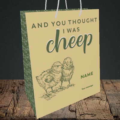 Picture of Cheep, (Without Photo) Easter Design, Medium Portrait Gift Bag