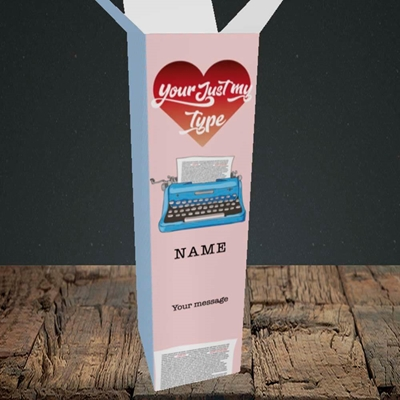 Picture of Just My Type(Without Photo), Valentine's Design, Upright Bottle Box