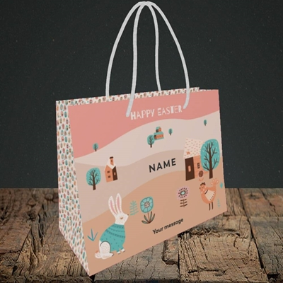 Picture of Easter Farm(Without Photo),  Easter Design, Small Landscape Gift Bag