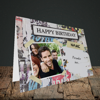 Picture of Graffiti, Birthday Design, Landscape Greetings Card