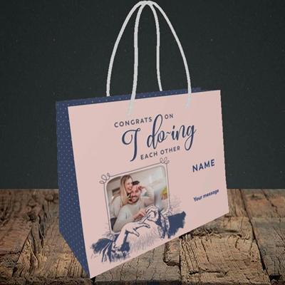 Picture of I Do-ing, Wedding Design, Small Landscape Gift Bag