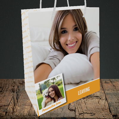 Picture of Photo, Leaving Design, Medium Portrait Gift Bag
