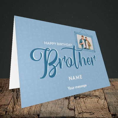 Picture of Brother, Birthday Design, Landscape Greetings Card