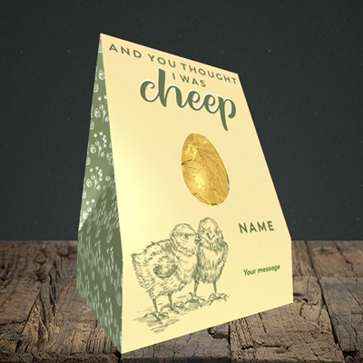Picture of Cheep(Without Photo), Easter Design, Truffle Easter Egg