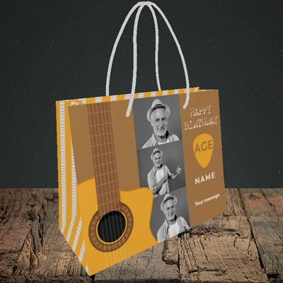 Picture of Acoustic Age, Birthday Design, Small Landscape Gift Bag