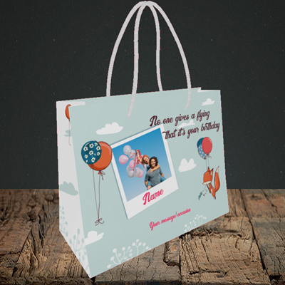 Picture of Fox, Birthday Design, Small Landscape Gift Bag
