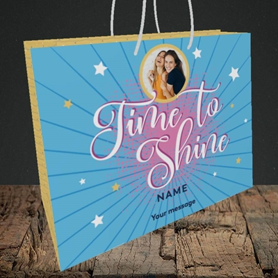Picture of Time To Shine, Good Luck Design, Medium Landscape Gift Bag
