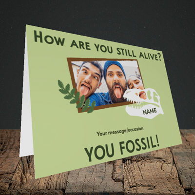 Picture of Fossil, Birthday Design, Landscape Greetings Card
