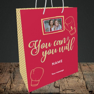Picture of You Can & You Will, Thinking of You Design, Medium Portrait Gift Bag