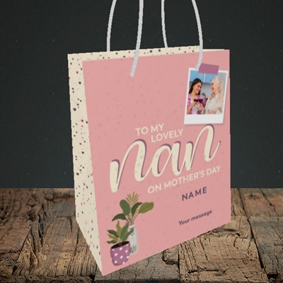 Picture of Lovely Nan, Mother's Day Design, Small Portrait Gift Bag