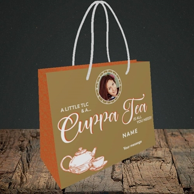 Picture of Cuppa Tea, Get Well Soon Design, Small Landscape Gift Bag