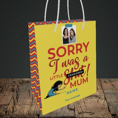 Picture of Little Sh*t, Mother's Day Design, Small Portrait Gift Bag