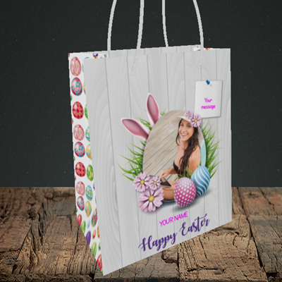 Picture of Grass, Easter Design, Small Portrait Gift Bag
