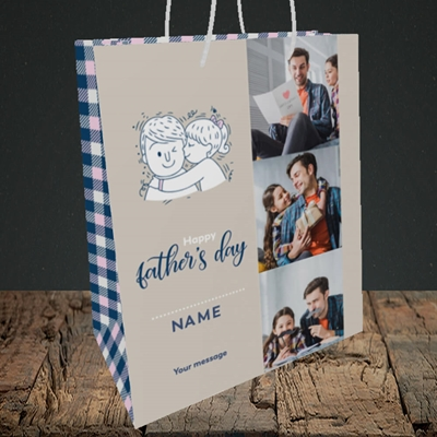 Picture of Father & Daughter, Father's Day Design, Medium Portrait Gift Bag