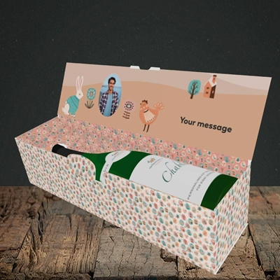 Picture of Easter Farm, Easter Design, Lay-down Bottle Box