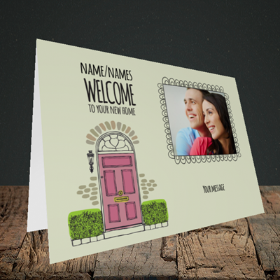 Picture of Doors, New Home Design, Landscape Greetings Card
