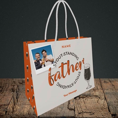 Picture of Stout-standing Father, Father's Day Design, Small Landscape Gift Bag