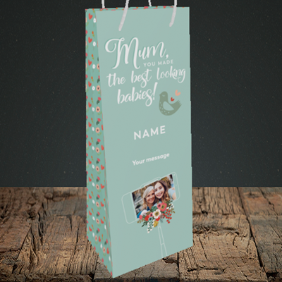 Picture of Best Looking Babies, Mother's Day Design, Bottle Bag