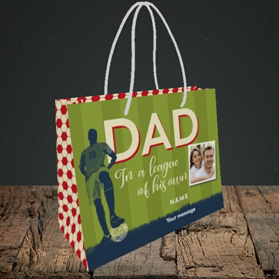 Picture of League Of His Own, Father's Day Design, Small Landscape Gift Bag