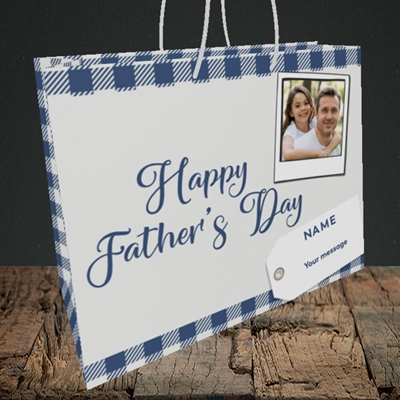 Picture of 2. Polaroid, Father's Day Design, Medium Landscape Gift Bag