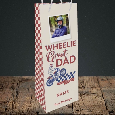 Picture of Wheelie Great Dad, Father's Day Design, Bottle Bag