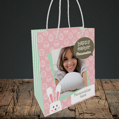 Picture of Rabbits, Easter Design, Small Portrait Gift Bag