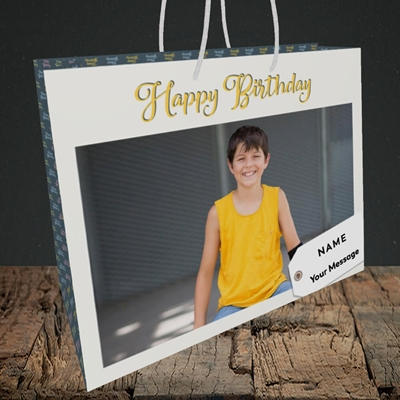 Picture of 1. A Happy Birthday, Large Photo, Medium Landscape Gift Bag