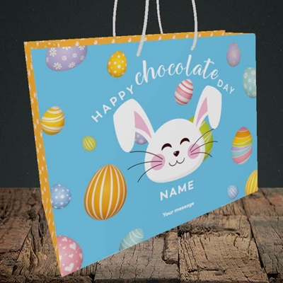 Picture of Chocolate Day, (Without Photo) Easter Design, Medium Landscape Gift Bag