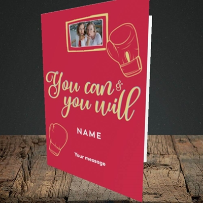 Picture of You Can & You Will, Thinking of You Design, Portrait Greetings Card