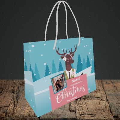 Picture of Countdown, Christmas Design, Small Landscape Gift Bag
