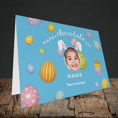Picture of Chocolate Day, Easter Design, Landscape Greetings Card